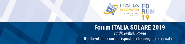 Forum ITALIA SOLARE 2019